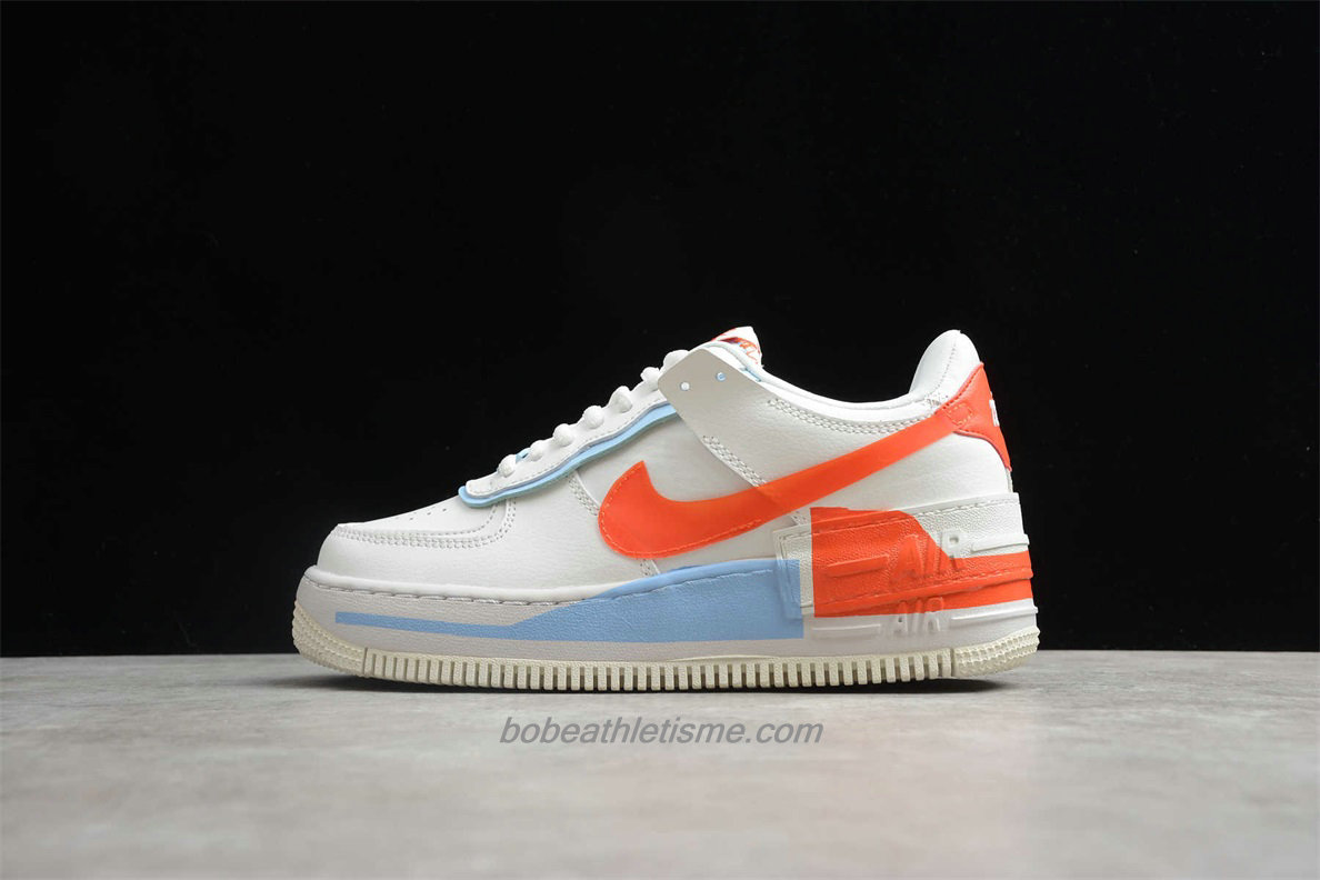 Chaussures Nike Air Force 1 SHADOW SE Femmes CQ9503 100 Beige / Orange / Bleu
