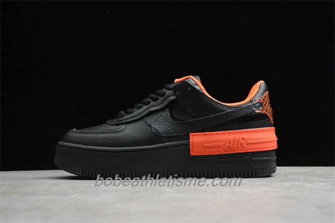 Chaussures Nike Air Force 1 SHADOW CQ3317 001 Noir / Orange