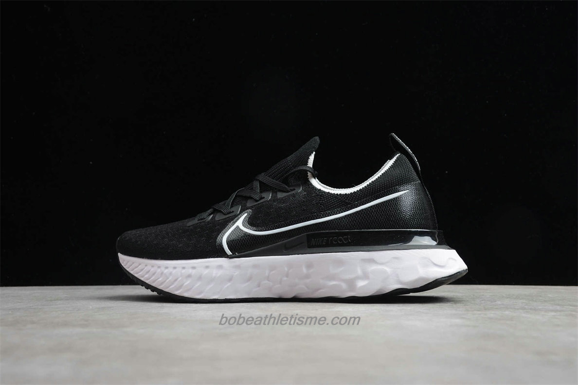 Chaussures Nike React Infinity Run Flyknit CD4372 002 Noir / Blanc