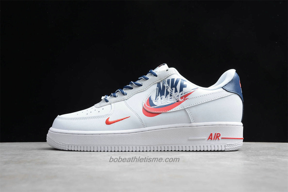 Chaussures Nike Air Force 1 Low 07 RPM QS CT1138 133 Blanc / Bleu marin / Rouge