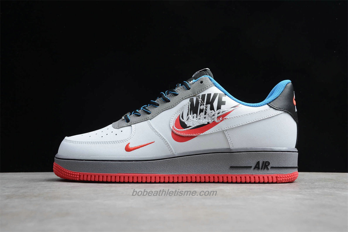 Chaussures Nike Air Force 1 Low 07 RPM AO2441 100 Blanc / Noir / Bleu / Rouge