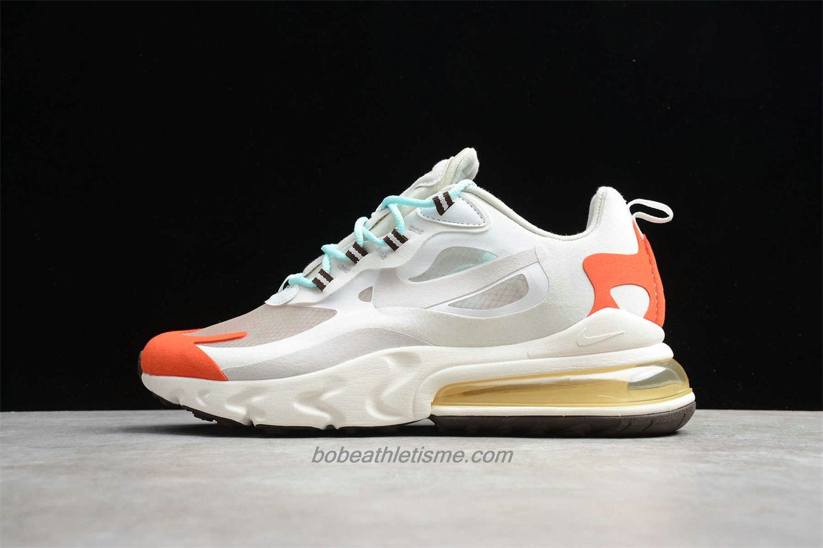 Chaussures Nike Air Max 270 React AO4971 200 Blanc / Orange