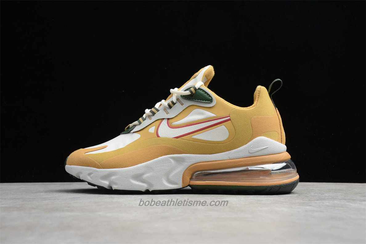 Chaussures Nike Air Max 270 React AO4971 700 Kaki / Blanc