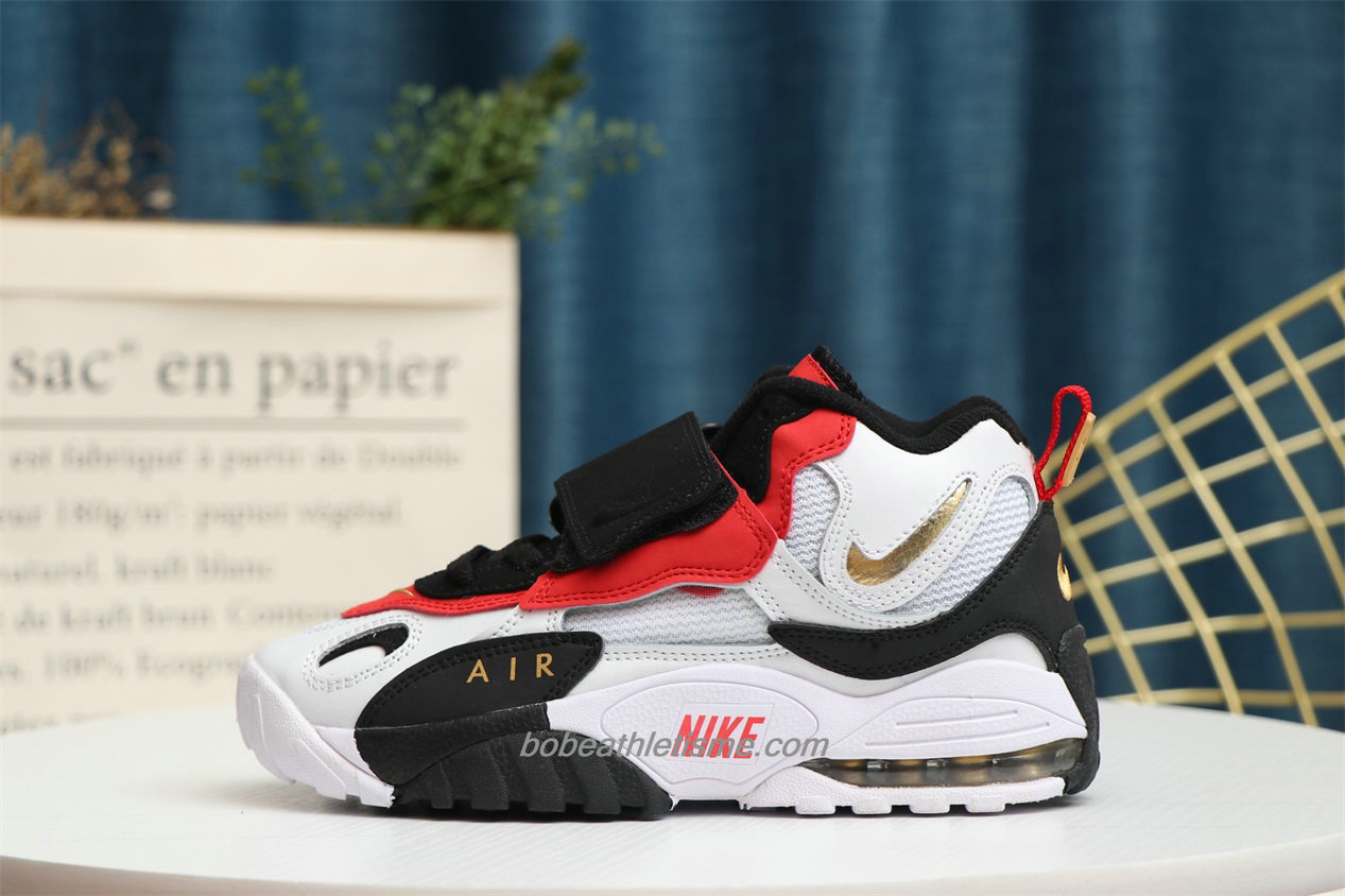 Chaussures Nike Air Max Speed Turf Blanc / Rouge / Noir / Or