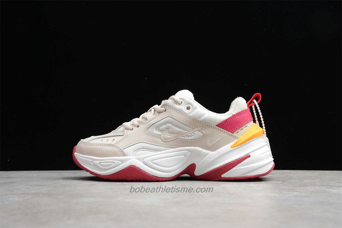 Chaussures Nike M2K Tekno Femmes AO3108 016 Blanc / Rouge / Beige